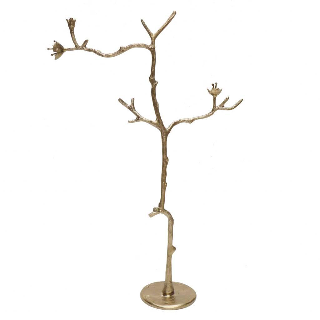 Messing sieradenhouder in de vorm van een tak