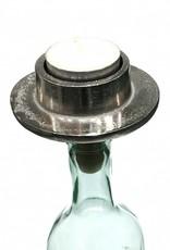 Design waxinelichthouder voor op een fles