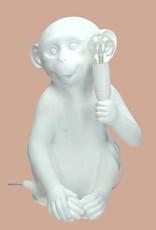 Modern design monkey lamp in white