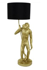 Gold lamp in the shape of a monkey