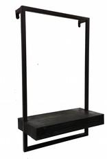 Modern design shelve with black frame