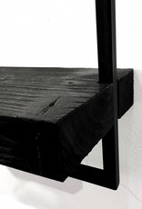Design wandplank met zwart frame