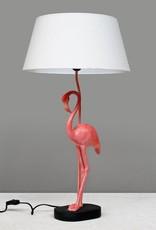 Pink flamingo table lamp