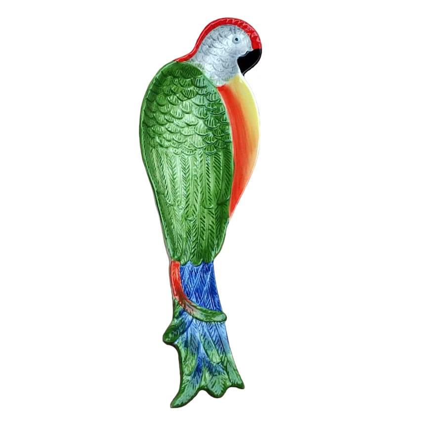 Ceramic parrot dish