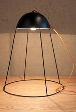 """Design lamp """"Solvar"""" van zwart metaal"""