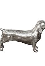 Nickel metal dachshund box