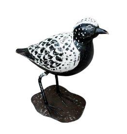 Wooden bird figure / Plover