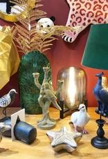 Wooden bird fugure of a plover