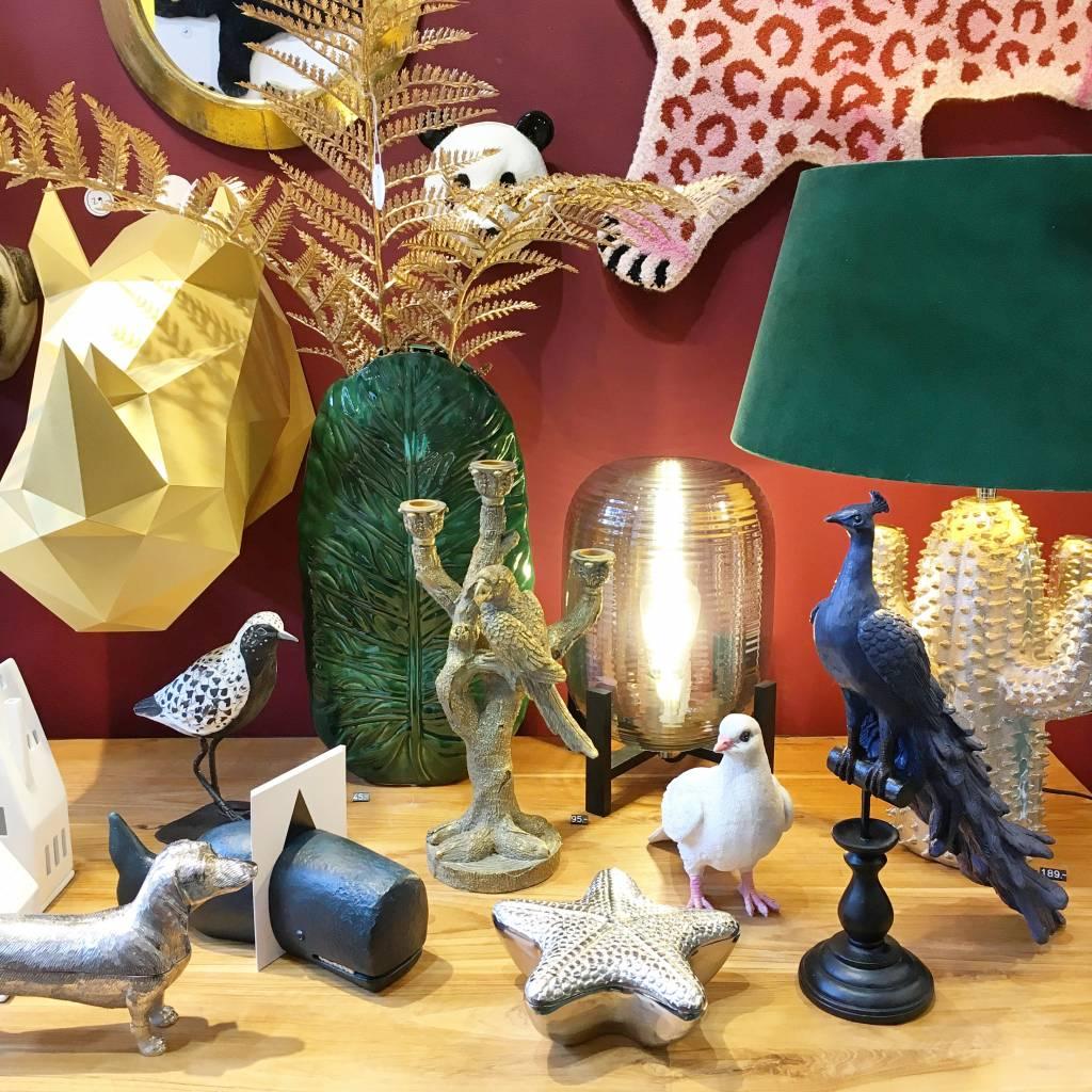 Peacock decor figurine