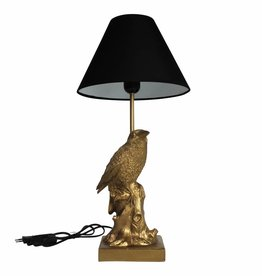 Crow bird lamp / Goud