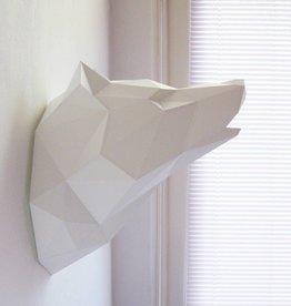 Paper Kit / Wolf / White