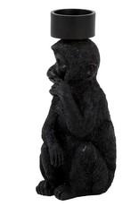 Black monkey tealight holder