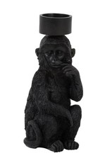 Zwarte aap waxinelichthouder