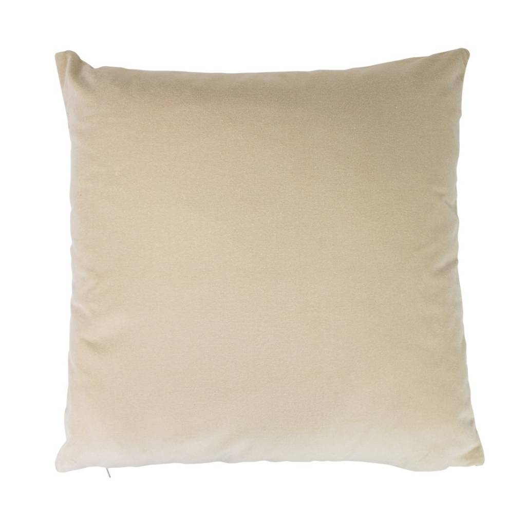 Luxury cushion with woven lion print