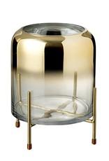 Design vaas van goud glas op houder
