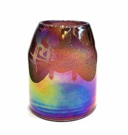 Vaas van paars glas