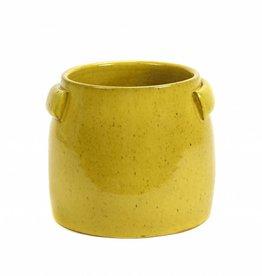 Gele bloempot / S