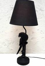 Zwarte papegaai tafellamp