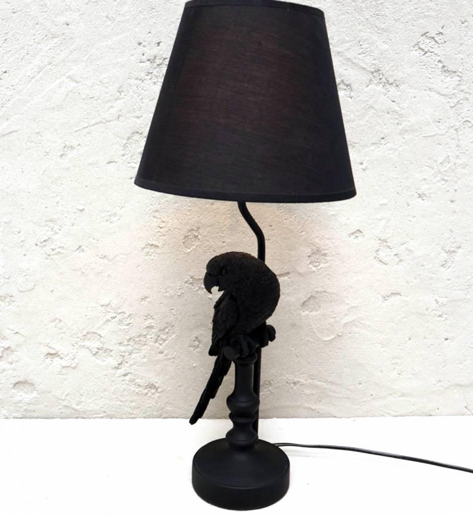 Zwarte papegaai lamp