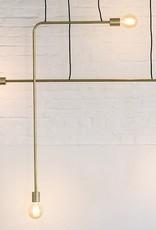 Goud koper minimalistisch design hanglamp