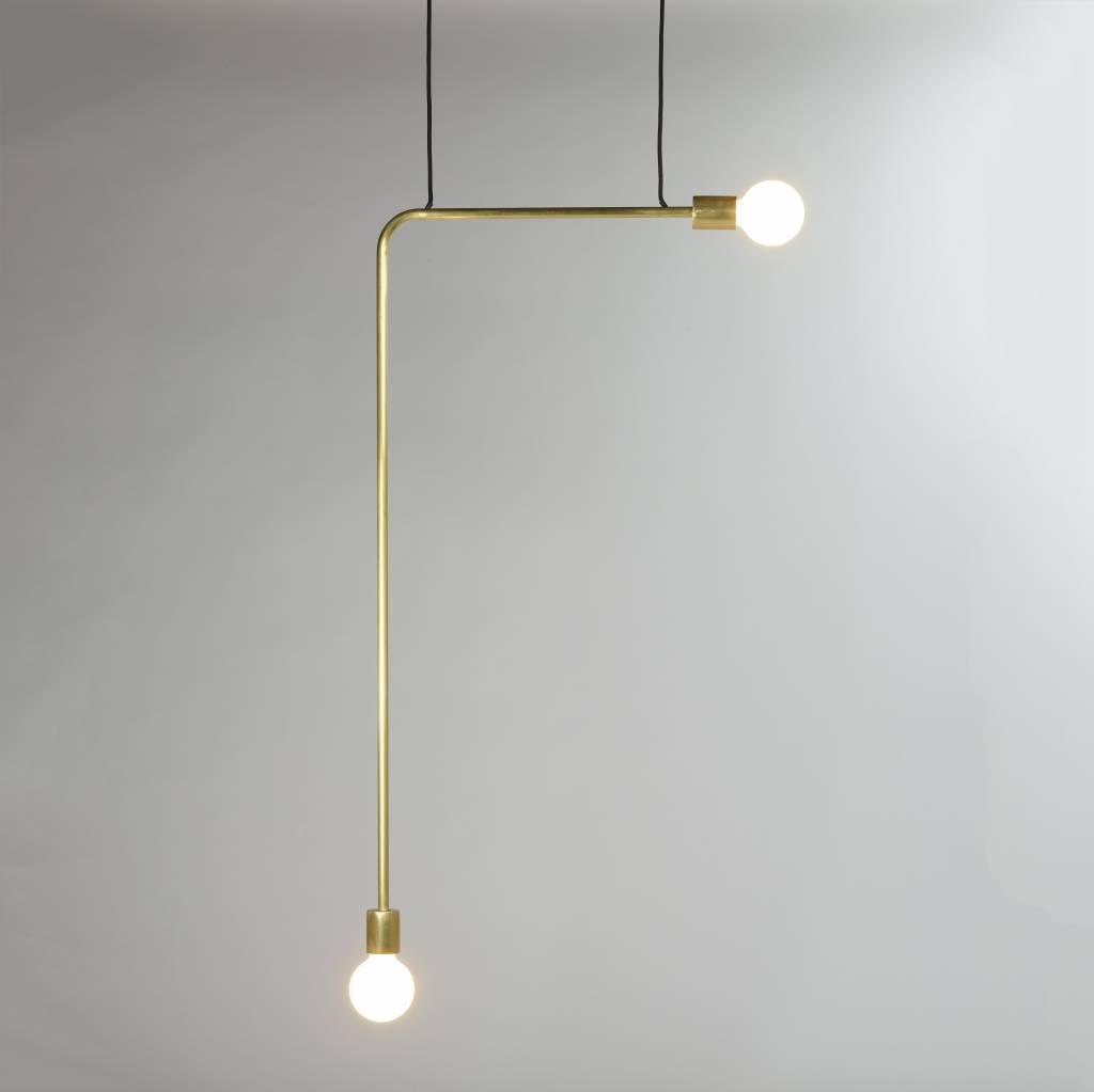Gold copper minimal design lamp