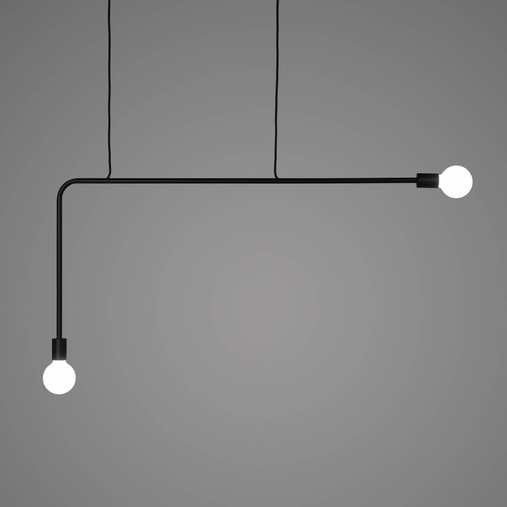 Black metal minimal design lamp