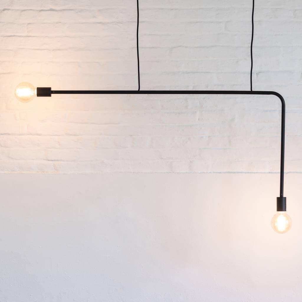 Zwart metaal design hanglamp