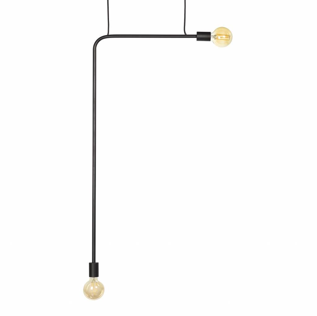 Zwart metaal minimalistisch design hanglamp