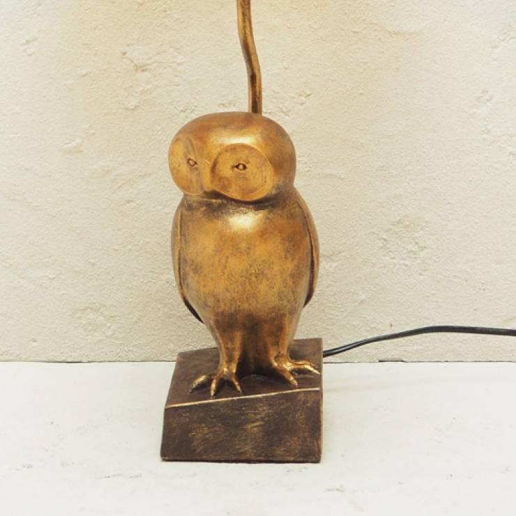 Gouden uil lamp