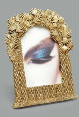 Gold picture frame with palm decor