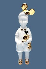 """Ceramic doll """"Little Boy"""" with Mickey Mouse ears"""