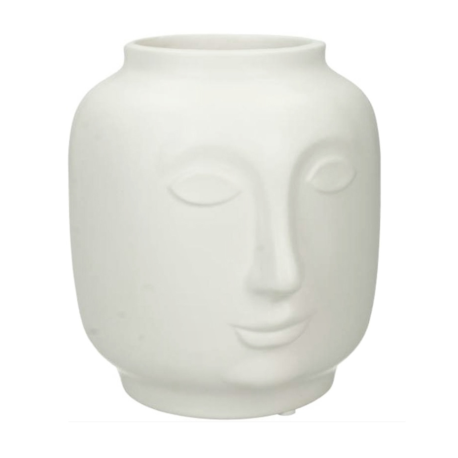 White ceramic head vase