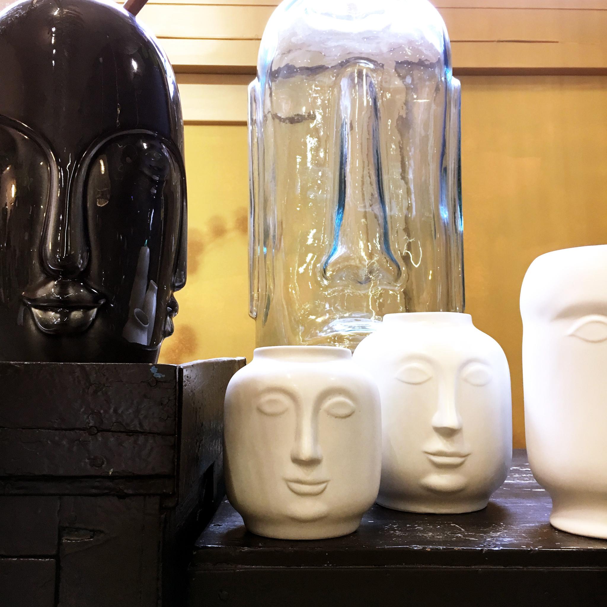 "XXL glass vase ""Moai"""