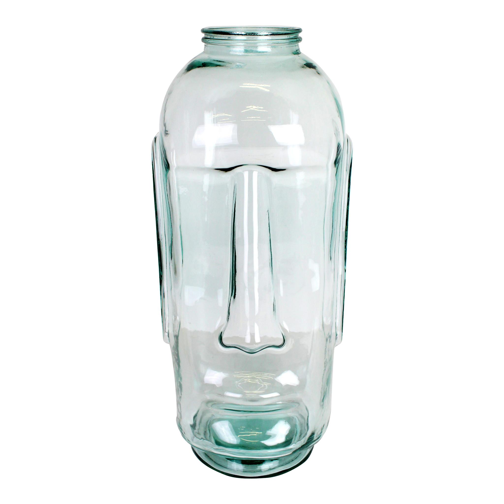 Grote Vaas Glas.Grote Design Vaas Van Glas Moai