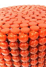 Oranje bolletjes bijzettafel
