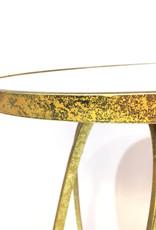 "Gold metal retro design side table ""Milano"""