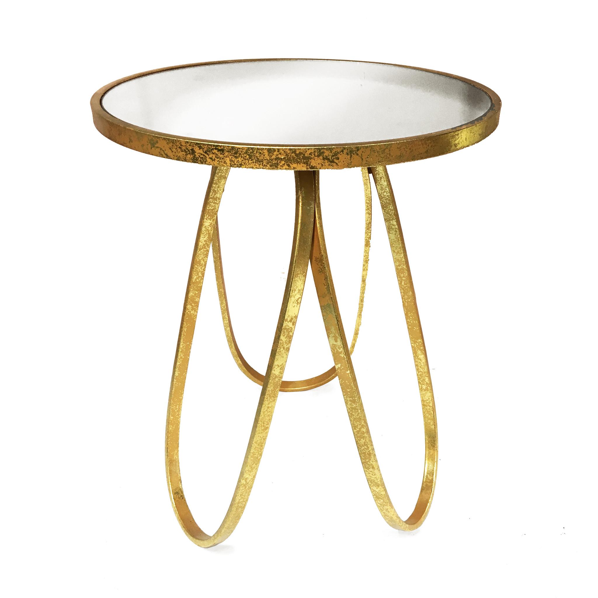 """Retro design bijzettafel """"Milano"""" van goud metaal"""