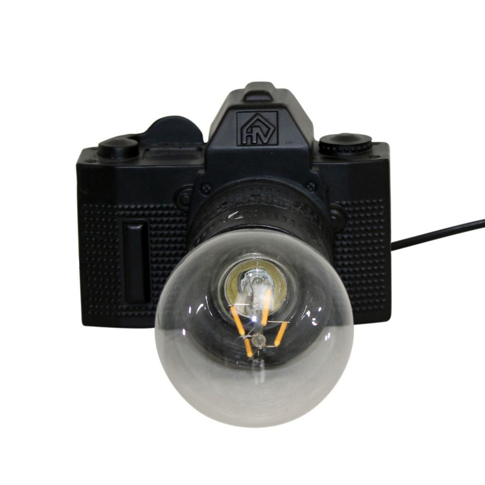 Lamp in de vorm van een fotocamera
