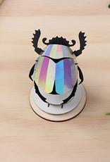 Scarabee kever van zilver papier om te knutselen