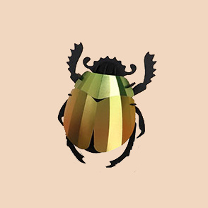 Mango green paper scarab beetle assemble kit