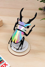 Rainbow silver paper stag beetle assemble kit