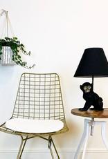 Tafellamp in de vorm van een zwart aapje