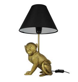 Tafellamp / Zittend aapje / Goud