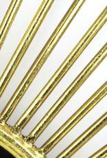Goud metalen spiegel in de vorm van een zon