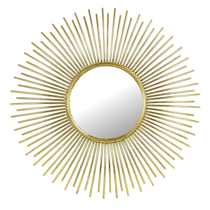 Gold metal sun mirror