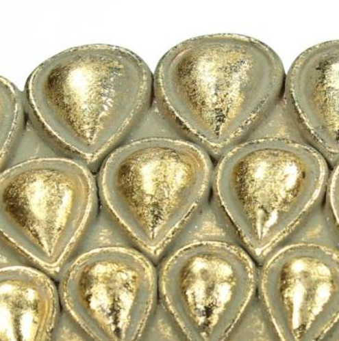 Gouden ronde spiegel met pauw decoratie