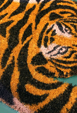 Coconut doormat in the shape of a tiger