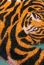 Deurmat van kokos in de vorm van een tijger
