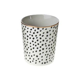 Modern cup with black dots
