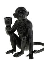 Black monkey candlestick